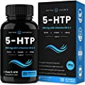 5-HTP 200mg Supplement - 120 Capsules - Natural Support for Brain, Mood & Sleep - Calm & Relaxing Serotonin Boost - 100mg Pills Enhanced with Vitamin B6 & Vitamin C for Superior Absorption & Results