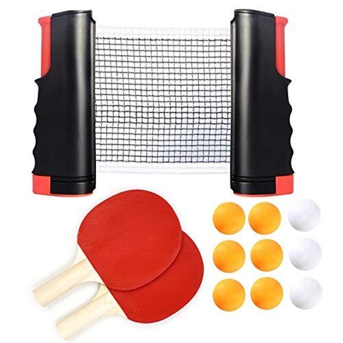 Coriver Juego de Tenis de Mesa portátil con Red retráctil Ping Pong...