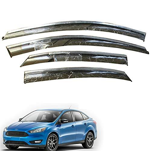 , Voor auto, Voor Ford Focus Hatchback Sedan 2012 2013 2014 2015 2016 2017 2018 Guard Accessoires Set Smoke Window Rain Visor