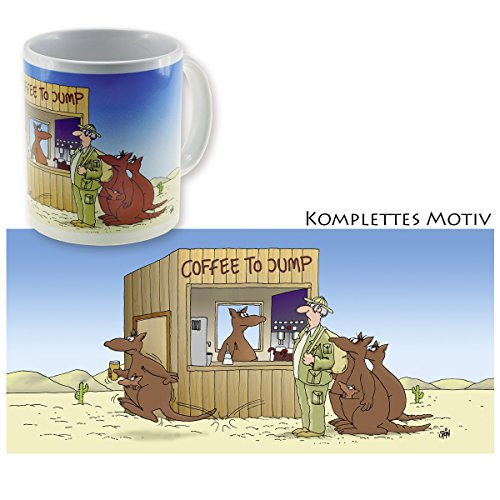 Uli Stein Tasse - Coffee To Jump Cartoon Becher