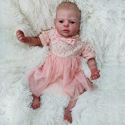 Yeah-hhi Muñecas Reborn 22 Pulgadas Lifelike Baby Doll Muñeca Real Táctil Hecho A Mano Hecho A Mano Muñeco De Juguete para Niños para Niños Regalo De Cumpleaños