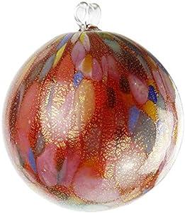 Bola de Navidad de cristal de Murano OMG, diseño de lunares, color rojo