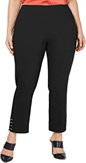 JM Collection Plus Size Chain-Trim Pull-On Pants