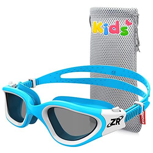 ZIONOR Schwimmbrille Kinder, G1MINI Polarisiert Komfortabel Kinder Schwimmbrille, Anti Nebel UV-Schutz Schwimmbrille für Mädchen und Jungen (Jahre 3-14)
