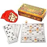 Russian Lotto Game Bingo Game Set - Travel Bingo Set - Board Games for Adults -...