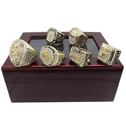 Fei Fei NBA Lakers Championship Ring Set Campeonato Anillos,Campeones Anillo de réplica para Aficionados de los Hombres de la colección del Regalo del Recuerdo de la Pantalla,11