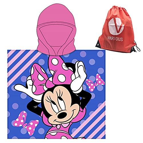 Toalla Infantil con Capucha de niño y niña Licencia Oficial Disney Minnie 9234