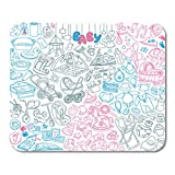 Semtomn Gaming Mouse Pad Neugeborene Doodle Babypflege Fütterungsspielzeug Gesundheit Zeug Dekor Büro rutschfeste Gummi Backing Mousepad Mouse Mat