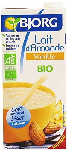Bjorg Lait d'amande vanille, bio - La brique de 1L