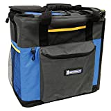 MICHELIN P14-M 12V Soft-sided Hybrid Travel Cooler and Warmer for Car and Home (15 Quarts/14 Liters, Iceless Thermoelectric Technology), Blue