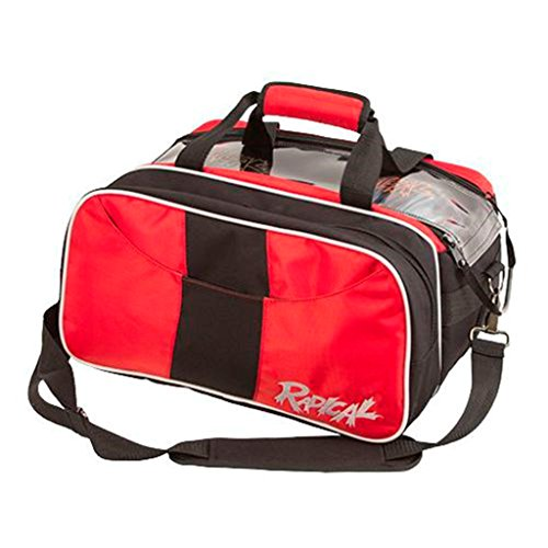 Radical Double Tote with Shoe Pouch Bowling Bag, Black/Red