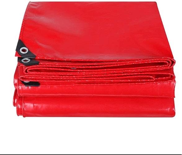 YHDD Bache rouge imperméable à l'eau de prougeection solaire épaississement de camion bache tissu imperméable bache de couteau bache de pluie vent pour le camping pêche de jardinage et animaux Bon shopp