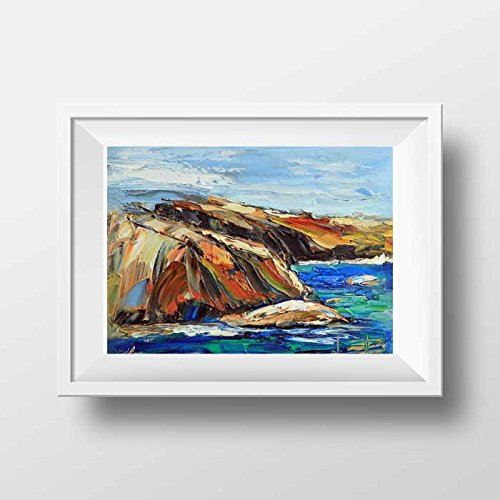Amazon Com Fine Art Signed Giclee Print Of An Original Painting Of The Point Lobos State Park In Carmel California Handmade