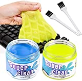 BESTZY Keyboard Cleaner Universal Cleaning Gel - 2 Cans and 2 Brushes Super...
