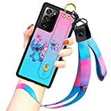 Cartoon Case for Samsung Galaxy Note 20 Ultra 5G Case 6.9 Inch Cute Stitch Cartoon Character Design with Lanyard Wrist Strap Band Holder Shockproof Protection Bumper Kickstand Cover