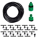 10m Portable Water Misting Cooling System Sprinkler Set with 20 Mist Sprinkler Nozzles for Outdoor Garden Patio