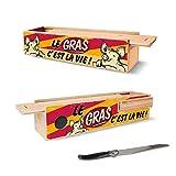 Cave à Saucisson Humoristique + Couteau – Le Gras c'est la Vie