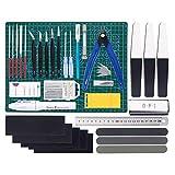 RUIZHI 55 Pezzi Gundam Kit di Strumenti Modello, Kit di Strumenti di Base Assemble Tools Hobby Building Craft Set per La Riparazione di Modelli di Edifici di Base