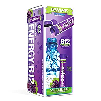 Zipfizz Healthy Energy Drink Mix Hydration with B12 and Multi Vitamins Grape 20 Count