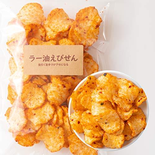 吉松 ラー油 えびせん [ 80g / 4袋入り ] 辛い 辛いお菓子 業務用 お菓子 ( おつまみに最適 ) 珍味 えびせんべい 煎餅