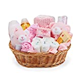 Baby Box Shop – Coffret naissance pour bébé fille avec vêtements bébé accessoires bébé couverture bébé doudou licorne rose et hochet