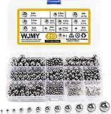 WJMY - Rodamientos de bolas de acero, 510 unidades, bolas de acero inoxidable para bicicleta de montaña, carretilla, piezas de repuesto