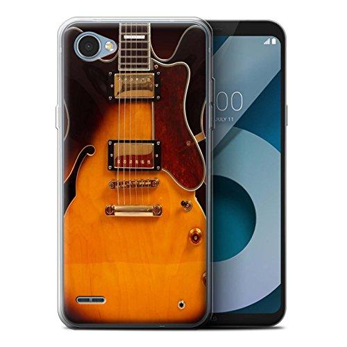 Stuff4® Gel TPU hoes/case voor LG Q6/M700 / Semi akoestisch patroon/gitaar collectie