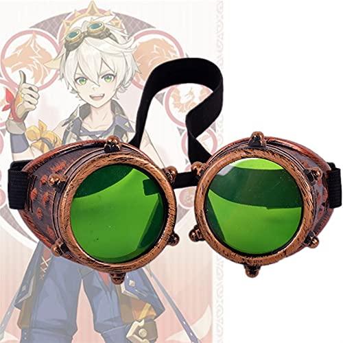 DDBAKT Nice Game Genshin Impact Bennett Gafas de cosplay steampunk gafas de seguridad accesorios de Halloween (color : 1)