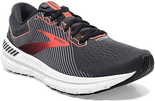 Brooks Damen Transcend 7 Running  Schuh, schwarz (Black/Ebony/Coral), 36.5 EU