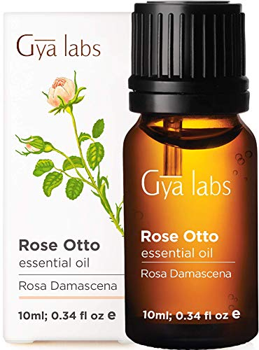 Gya Labs Rose Otto Essential Oil - Mood Soother for Peace of Mind & Flawless Skin (10ml) - 100% Pure Therapeutic Grade Aromatherapy Rose Oil Essential Oils for Diffuser & Topical Use