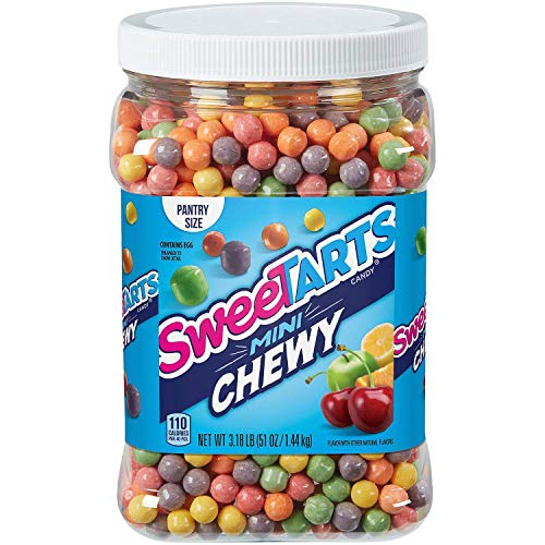 SweeTARTS Mini-Chewy Tangy Candy Five Fruity Flavors, 51 Oz - PACK OF 2