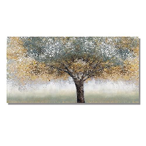 Cuadro de árbol abstracto Impresión en lienzo Arte de la pared Póster Decoración Imagen de paisaje moderno para la sala de estar Decoración del hogar 20x40cm (8x16in) Sin marco