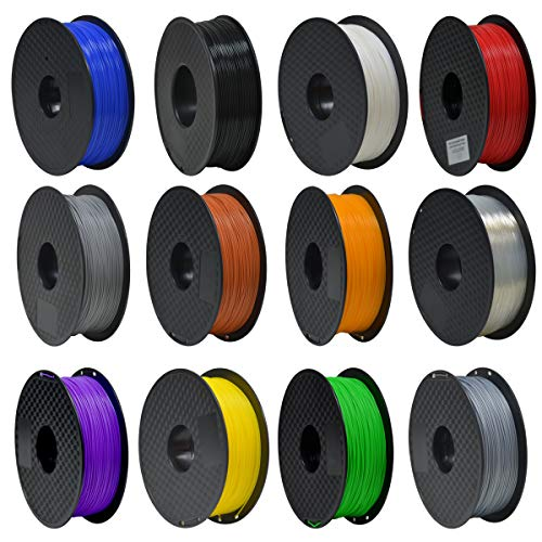 GEEETECH Filamento PLA 1.75mm 1kg Spool per Stampante 3D, Nero