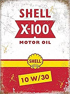 XCVBN CWSY Tin Metal Sign Shell Motor Oil Home Decoration Thanksgiving Christmas Wall Art Stickers 8x12 inches