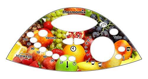 Thermodernizate.com Sticker de panneau de commande pour thermomix Tm31 Fruit