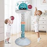 Hadwin Basketball Hoops Kids, Safe Adjustable Portable Basketball Stand Hoop Net Set Indoor