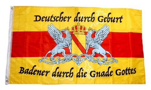 Fahne Flagge Badener durch die Gnade Gottes 90 x 150 cm