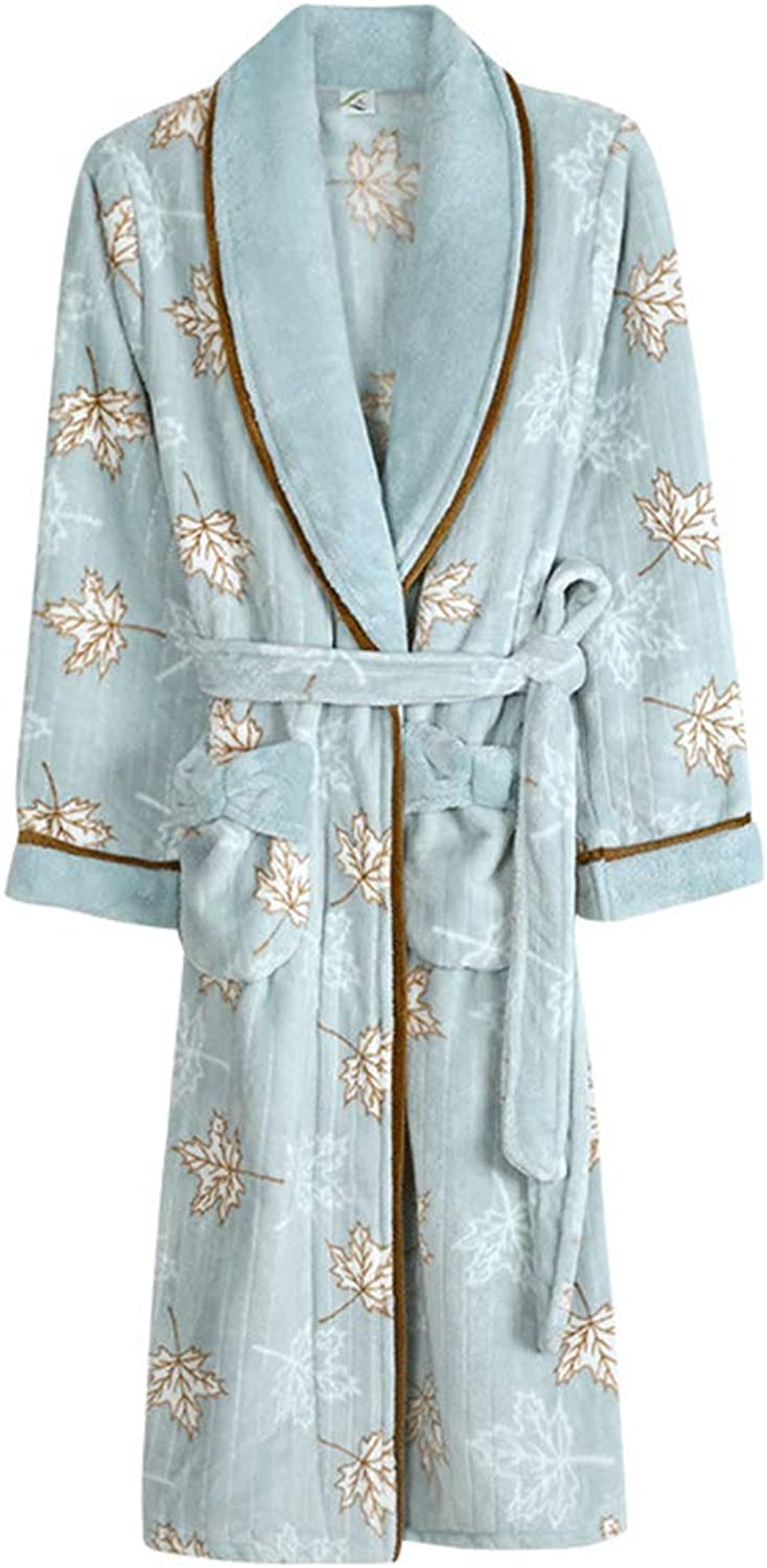 Duduxiaomaibu Women Fleece Bathrobe for Long Robes Soft Pajamas