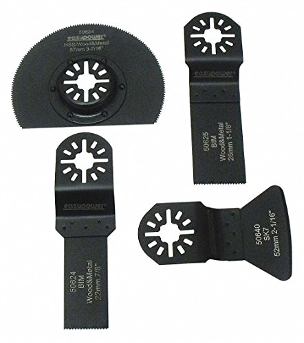 Fantastic Prices! Oscillating Tool Accessories, HSS, 4 pcs.