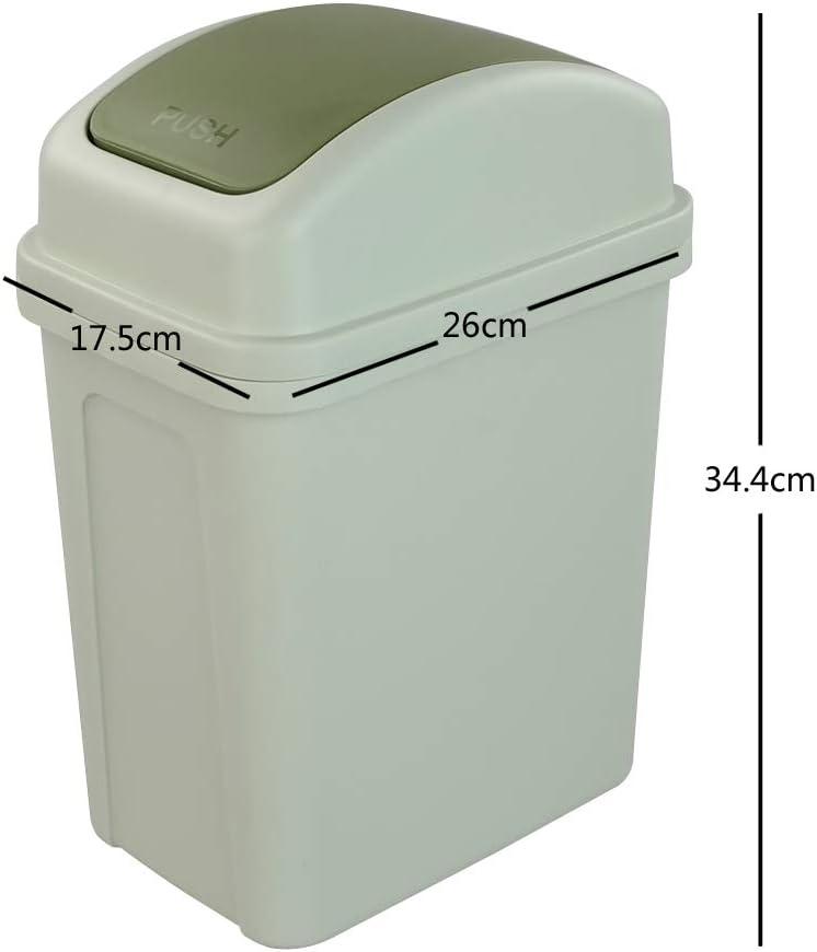 Plastic Garbage Bin Grey Asking 7 Liter Small Trash Bin with Swing-top Lid