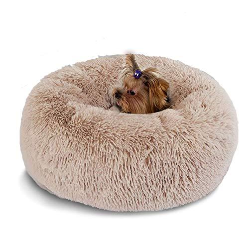 Segle Weich Warm Langes Plüsch Haustierbett Donut Form Hund Katze Rund Bett, Plüsch...