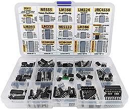 XL IC Chip Assortment 150 pcs, opamp, oscillator, pwm, PC817, NE555, LM358, LM324, JRC4558, LM393, LM339, NE5532, LM386, TDA2030, TDA2822, PT2399, UC3842, UC3843, ULN2003, ULN2803, 7660, Sockets
