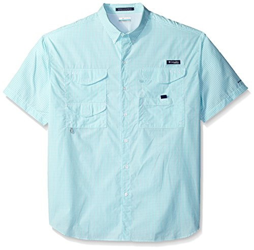 Columbia Herren Super Bonehead Classic Kurzarmhemd, Herren, Super Bonehead Classic Short Sleeve Shirt, Gulf Stream Gingham, XX-Large