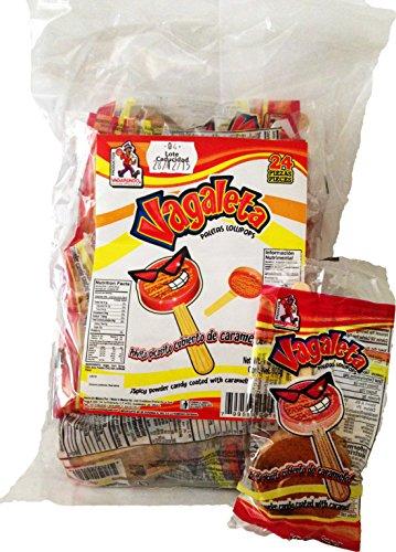 Vagaleta / paleta de caramelo con chile / caramel with chili lollipop / mexican candies / all mexican sweets