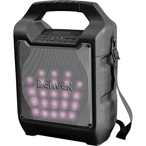 Denver TSP-205 Mobiele luidspreker met LED-lichteffect, zwart