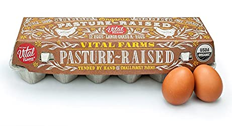 Vital Farms Organic Pasture-Raised Large Eggs 12ct