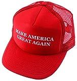 MAKE AMERICA GREAT AGAIN - Mesh Back TRUCKER HAT - TRUMP 2016 2020 (Red)
