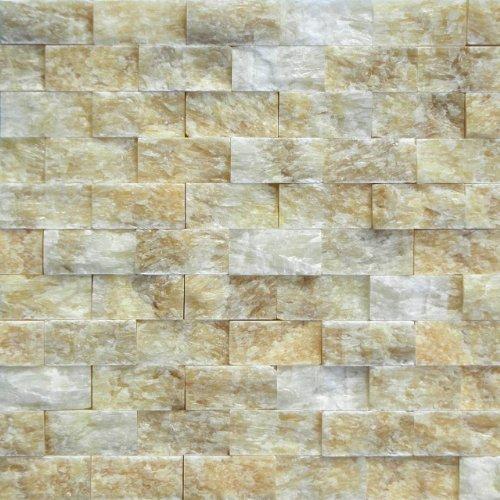 Honey Onyx 1x2 SPLITFACED Mosaic Tiles