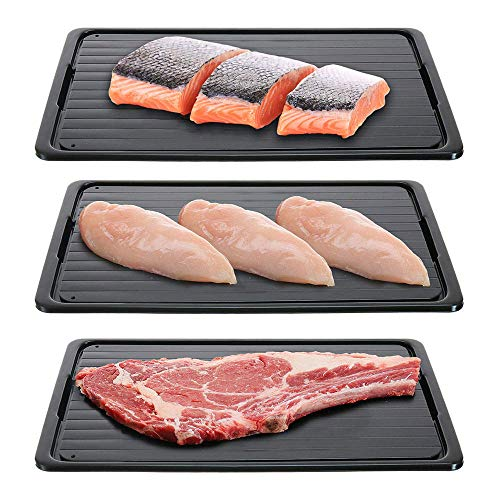 Auftauplatte Schnelles Auftautablett Auftauen Von Tiefkühlkost Fleisch Obst Schnelles Auftauen Platte Platte 2-In-1 Abtauen Schneidebrett Küchenwerkzeug-23X16 5X0 2 Cm