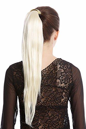 WIG ME UP - Srosy-613 Extension natte queue de cheval nouveau système peigne et serre-tête élastique blond platine lisse 55 cm